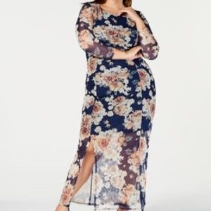 New NY Collection Maxi 3/4 Sleeve Floral Dress